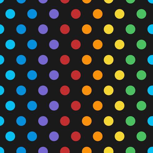 Vector de patrón de lunares de colores sin fisuras