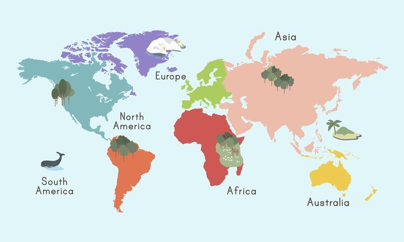 Carte du monde w