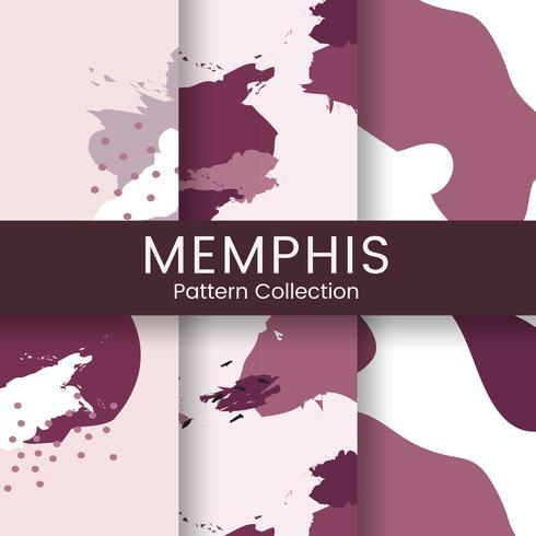 Pink Memphis pattern design vector