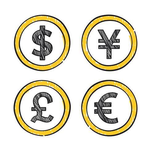 Världsledande globala valutor illustrationen