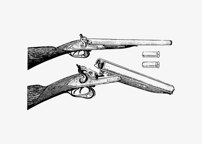 Arma em estilo vintage