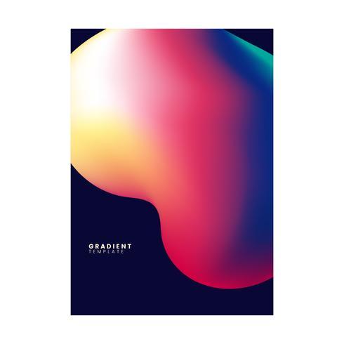 Färgglatt gradientmall bakgrundsdesign