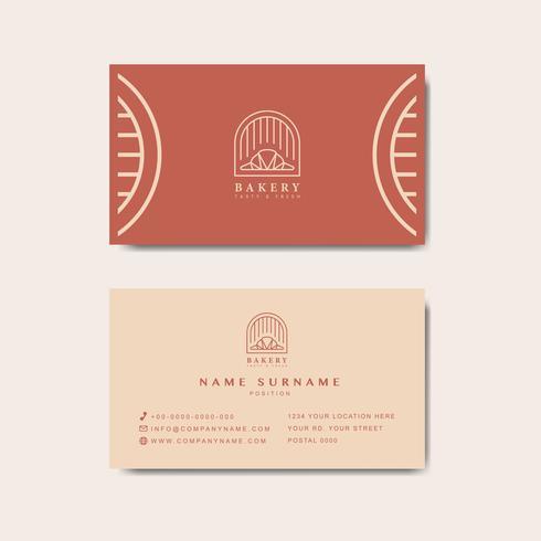Vector de plantilla de tarjeta de visita de cafetería