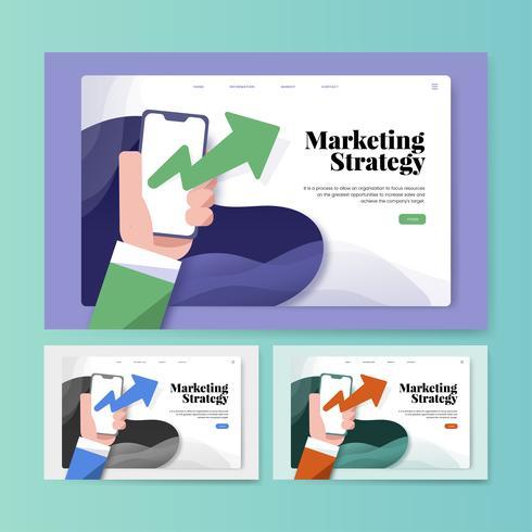 Informationswebsitegraphik der Marketingstrategie