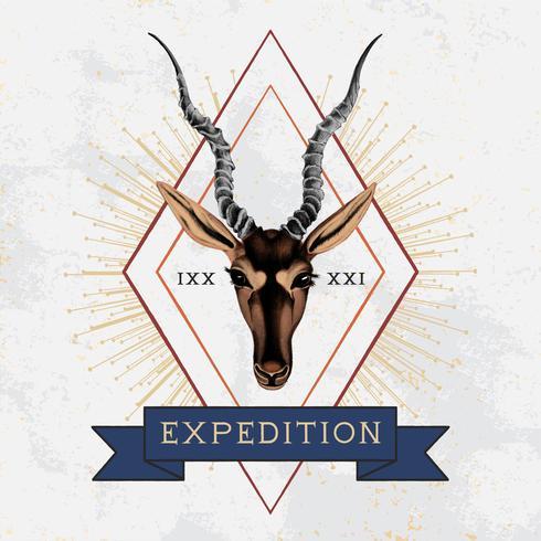 Expedition travel logo design vector