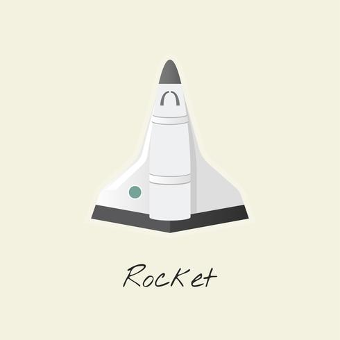 Illustratie van een raketschip