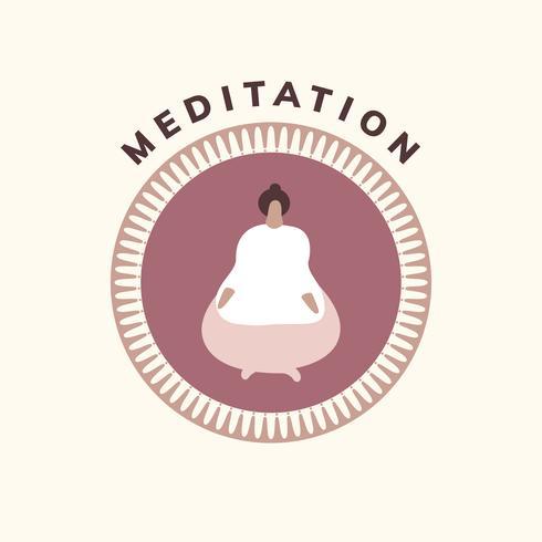 Yoga und Meditation Wellness-Symbol