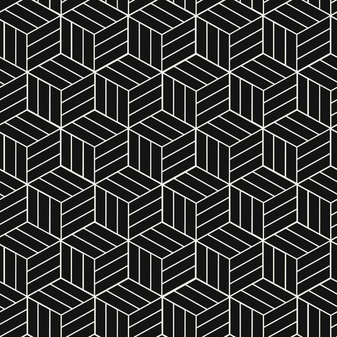 Vetor de padrão geométrico de inspiração japonesa sem costura