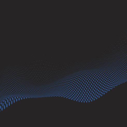 Wavy halftone in blue and black