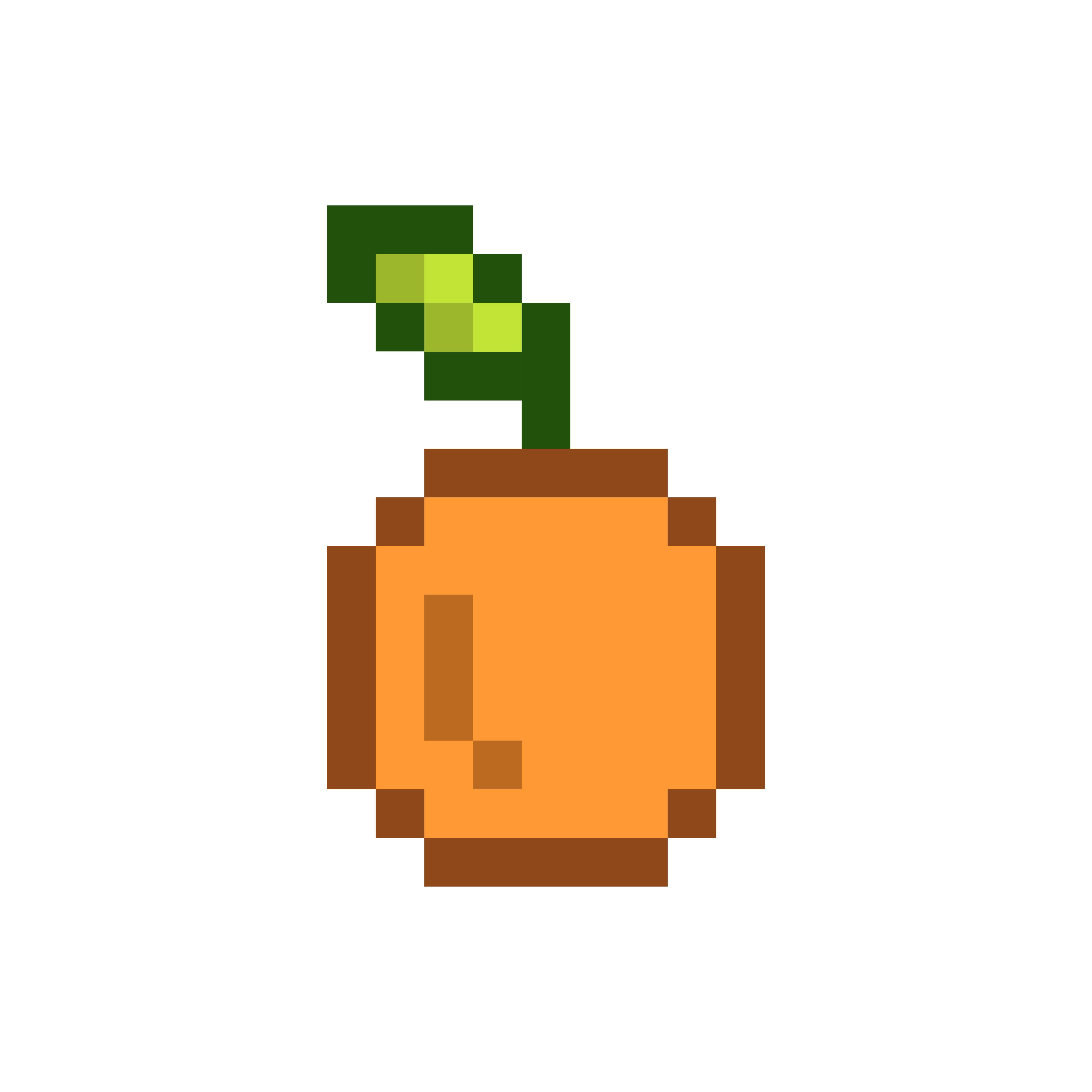 An Orange Pixelated Fruit Graphic