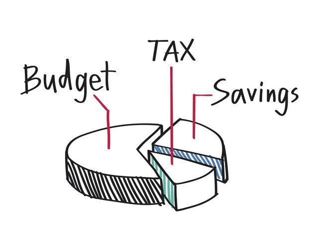 Gráfico circular de ilustración de ingresos