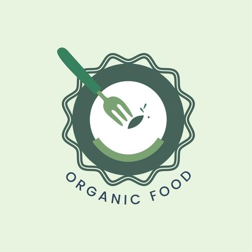 Icono de comida orgánica y saludable.