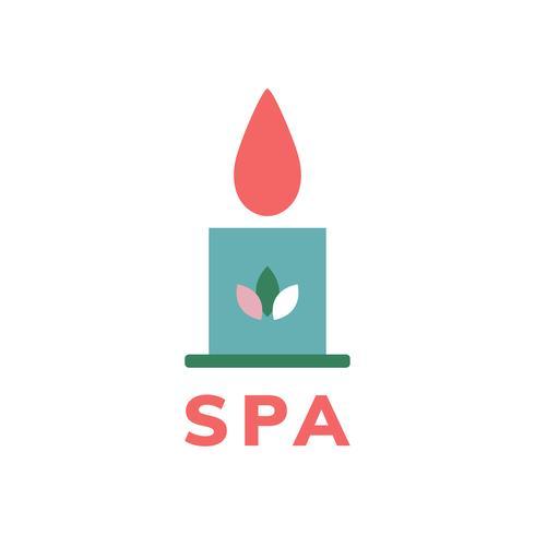 Spa y belleza icono vector