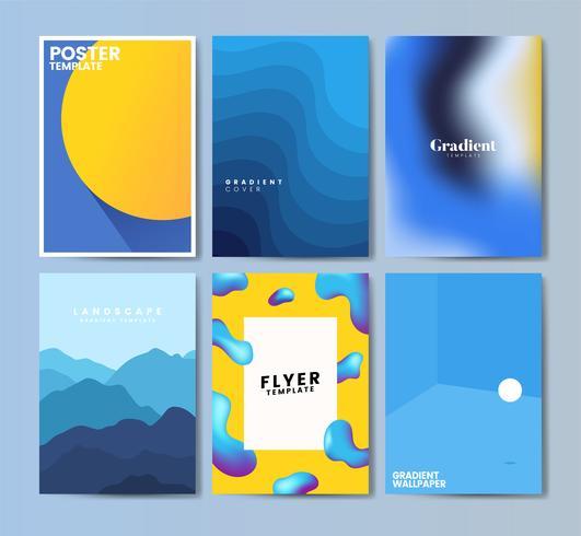 Färgrik flygblad mall design illustration