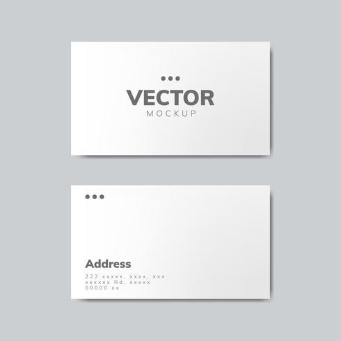 Vecteur de maquette de carte de visite