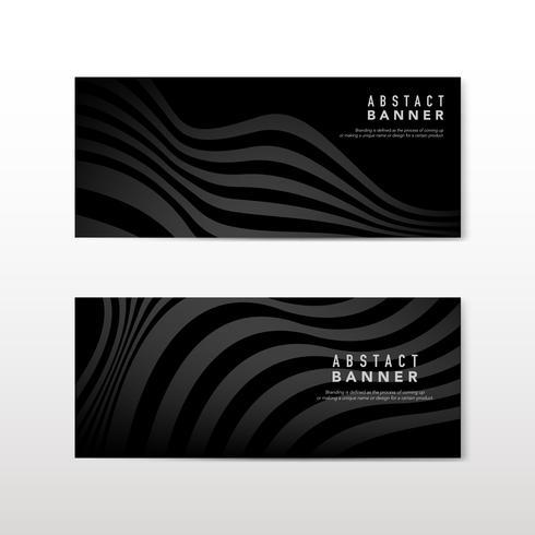 Vettori di design nero bandiera astratta