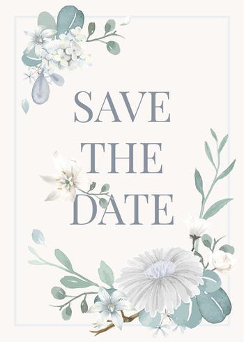 Inbjudningskort med ett ljusblått tema