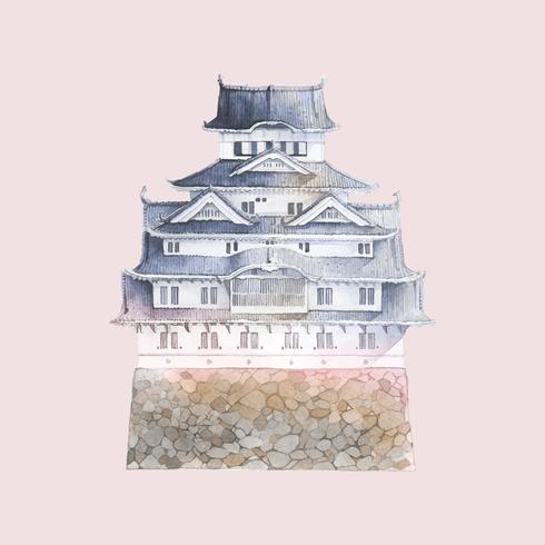 Himeji-Schloss in Japan-Vektor