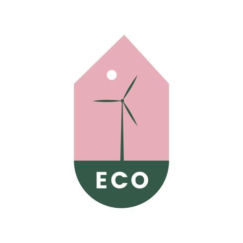 Eco-vriendelijke alternatieve energie pictogram