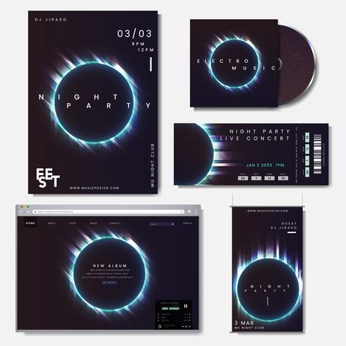 Conjunto de diseño promocional