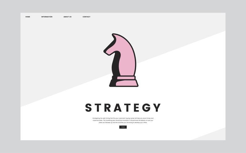 Informationsstrategie-Website-Grafik der Geschäftsstrategie