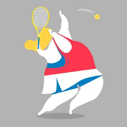 Karakterillustratie van een vrouwelijke tennisspeler
