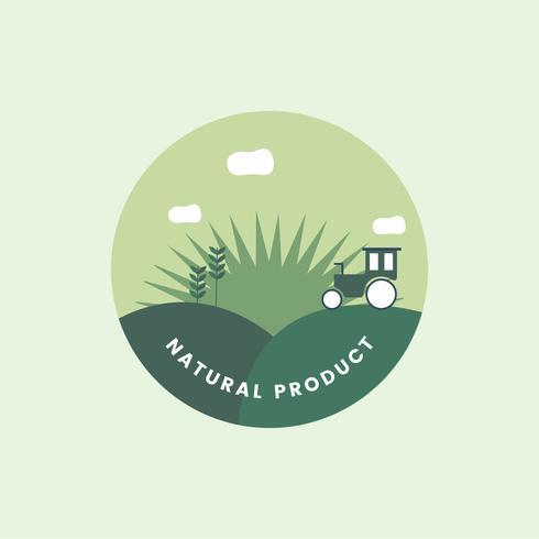 Logo av ekologisk naturlig produkt
