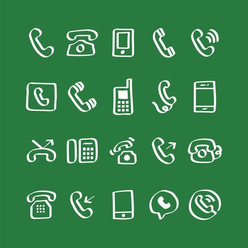Illustration uppsättning telefonikoner