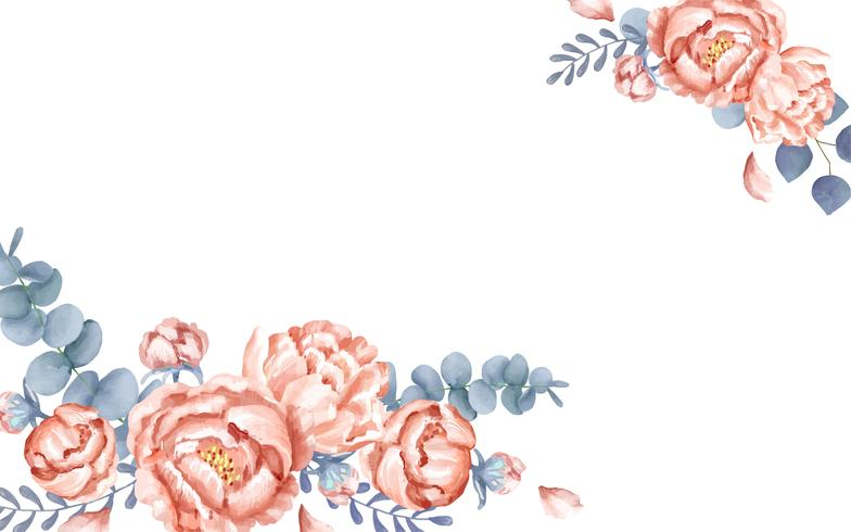 A white greeting card with floral decoration