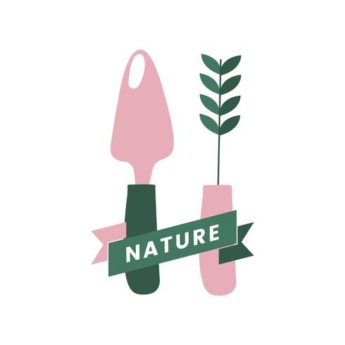 Logo dell'agricoltura biologica della natura