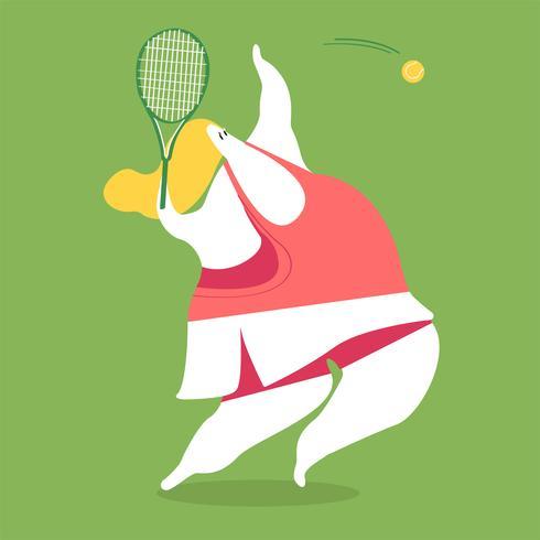 Personagem, ilustração, de, um, femininas, jogador tênis