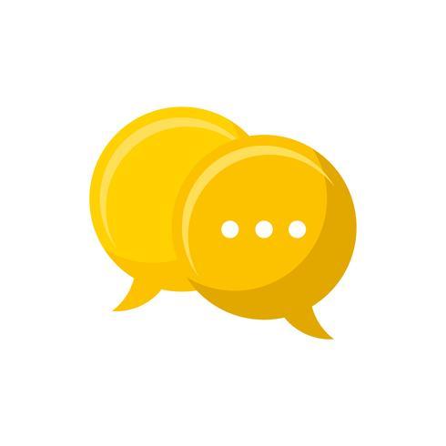 Ilustración del icono de la burbuja del discurso
