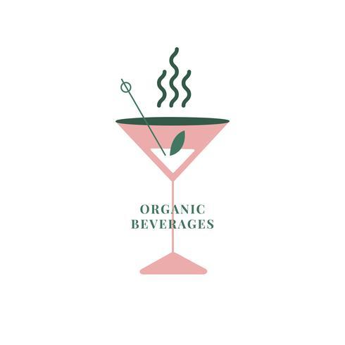 Icône de boissons fraîches et biologiques