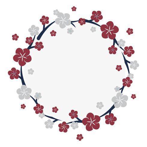 Cornice di fiori giapponesi