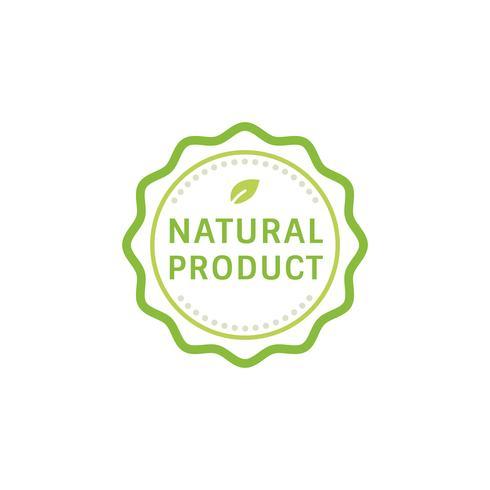 Ilustración de placa de sello de producto natural