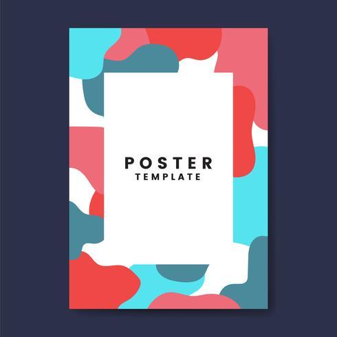 Kall och färgrik affischmall