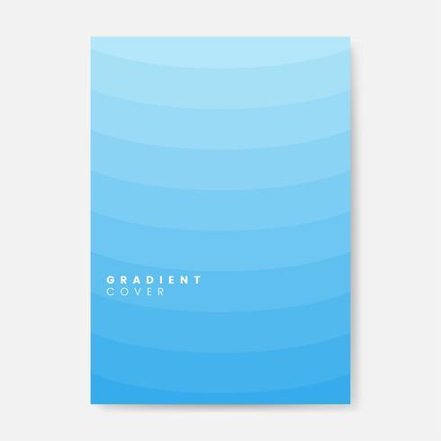 Blaues Steigungsabdeckungsgrafikdesign