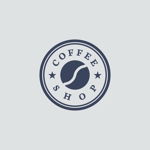 Vecteur de logo café rétro