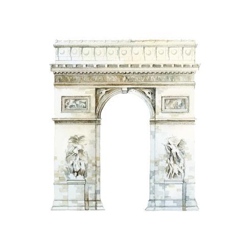 Arc de Triomphe en vector de París