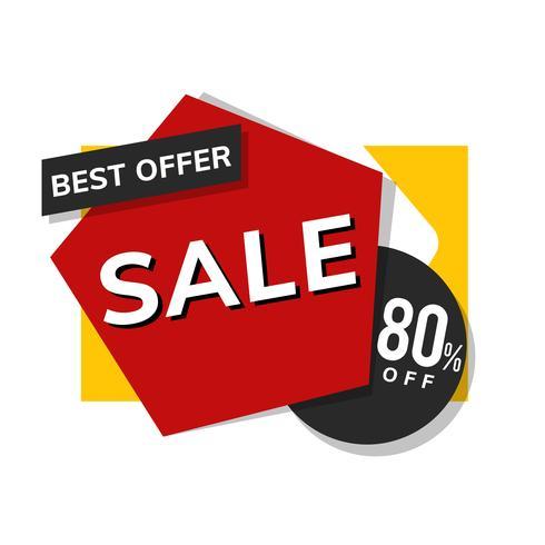 Melhor oferta de venda de 80% de desconto no vetor de propaganda de promoção de loja