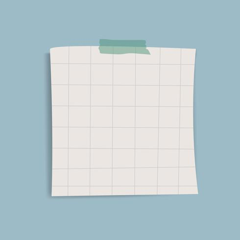 Blank square grid reminder note vector