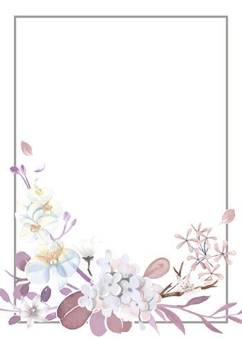 Tarjeta de felicitación púrpura y rosa
