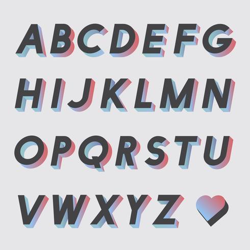 Satz von Alphabet-Vektoren