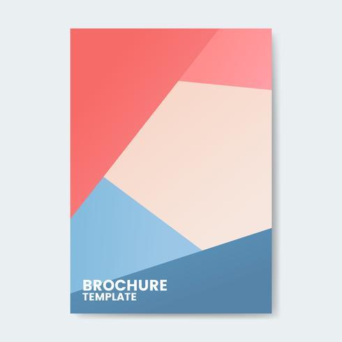 Modelo de design moderno folheto colorido