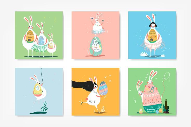 Raccolta di illustrazione celebrazione di Pasqua