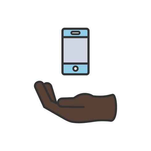 Illustration av mobiltelefonikon