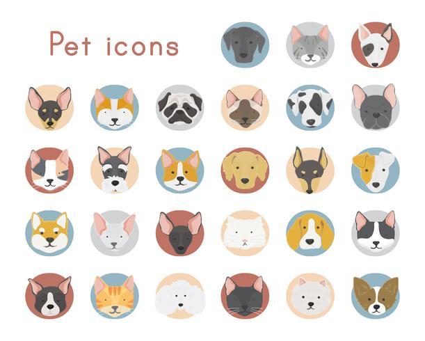 Gatos y perros iconos