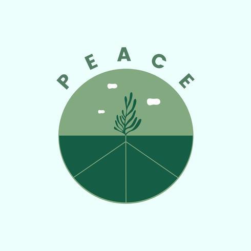 Peace on earth symbol illustration