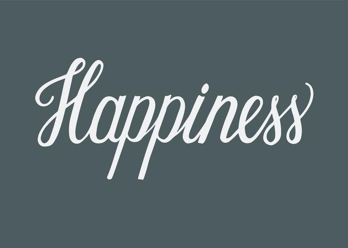 Handschriftlicher Stil der Typografie des Glücks