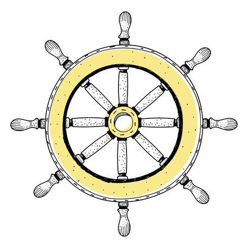 Doodle della ruota della nave